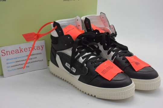 OFF-White Low 3.0 High Top White Black